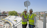 Daniel Dias (left) spent time working at Lord's under the watchful eye of BAM's Kevin Stoney