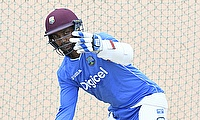 Denesh Ramdin in practice in St Kitts.