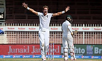 Stuart Broad in action against Pakistan last year