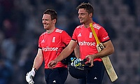 Eoin Morgan (left) and Jos Buttler (right) added 114 runs for the third wicket.