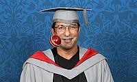 New University of Central Lancashire (UCLan) Honorary Fellow Wasim Akram