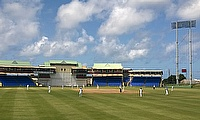 Action from India's tour game against a Board President's XI in St Kitts