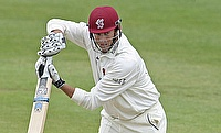 Marcus Trescothick scored a double-century as Somerset took a first innings lead over Nottinghamshire