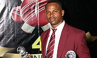 Marlon Samuels during the West Indies Cricket Board and West Indies Players Association annual awards ceremony in Antigua