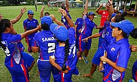Samoa celebrate their win over Japan
