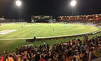 Our view from the Darren Sammy International Stadium