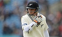 Tom Latham scored 105 in the first innings against Zimbabwe.