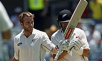 Both Kane Williamson (left) and Ross Taylor (right) accelerated in the final session.