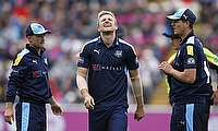 David Willey (centre) has been cleared of a fracture.