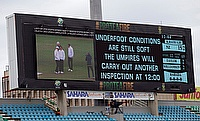 Wet outfield has continued to be a worry at Kingsmead Durban.