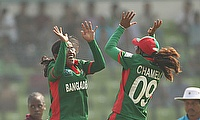 Rumana Ahmed picked a hat-trick for Bangladesh Women