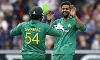 Imad Wasim (right) was named the man of the match as well as the man of the series.