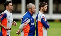 James Anderson (left) and Mark Wood (right) add to England's injury causality.