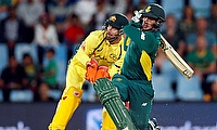 Quinton de Kock (right) registered his highest individual score in ODIs.