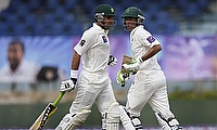 Misbah ul Haq (left) and Younis Khan (right) added 175 runs for the fourth wicket