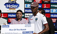 Kraigg Brathwaite (right) helped West Indies register their first win of the UAE tour
