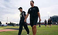 Shane Jurgensen (right) along with Ross Taylor (left)
