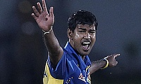 Nuwan Kulasekara was the only wicket-taker for Sri Lanka in the brief play that happened