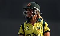 Meg Lanning scored an unbeaten 80 for Australia