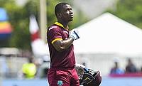 Evin Lewis scored 148 runs off 122 deliveries