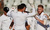 Ben Stokes (right) celebrating the wicket of Virat Kohli