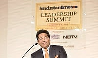 Sachin Tendulkar during the Hindustan Times Leadership Summit