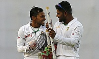 Imrul Kayes (right) scored four runs in the tour game against India A