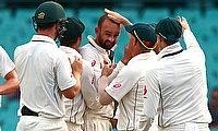 Nathan Lyon picked two wickets in the day