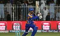 Babar Azam in action for Karachi Kings