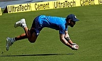 Virat Kohli in a fielding session ahead of the Bangalore Test
