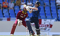 Eoin Morgan led from the front with a brilliant century in Antigua