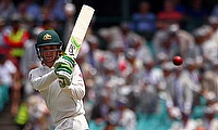 Peter Handscomb scored his first fifty of the series