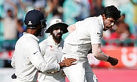 Umesh Yadav (right) bowled a tremendous spell to rattle Australia