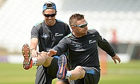 Tim Southee (left) will join Brendon McCullum in Middlesex