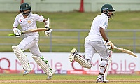 Azhar Ali (left) and Babar Azam (right) shared a 120-run stand for the second wicket