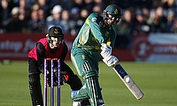 Quinton de Kock (right) slammed a brilliant century