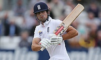 Alastair Cook remained unbeaten on 114