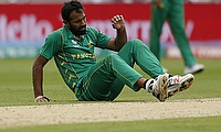 Wahab Riaz injured his ankle during the game against India