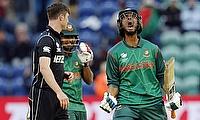 Mahmudullah (right) celebrating Bangladesh's win over New Zealand