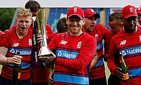 England players celebrating the series win over South Africa