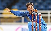 Kuldeep Yadav picked a three wicket haul