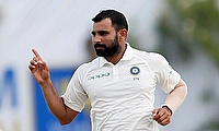 Mohammad Shami picked two wickets for India on day two in Galle