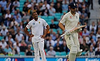 Vernon Philander (left) bowled just five overs on day two
