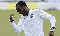 Kraigg Brathwaite bowled six overs in the game