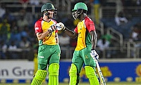 Luke Ronchi (left) and Chadwick Walton played blistering knocks for Guyana