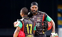Chris Gayle (right) scored an unbeaten half century