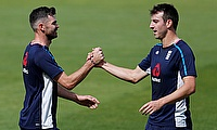 Toby Roland-Jones (right) returns to the England line-up