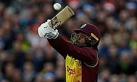 Chris Gayle announced his arrival with a 21-ball 40 against England