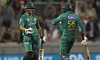 Khalid Latif (left) has played 18 limited overs games for Pakistan