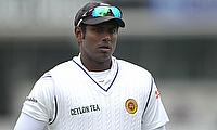 Angelo Mathews suffered a calf injury during training on Tuesday
